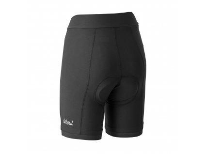 Dámské cyklistické kalhoty Dotout Instinct W Short (pad DOT PRO W) - black/black