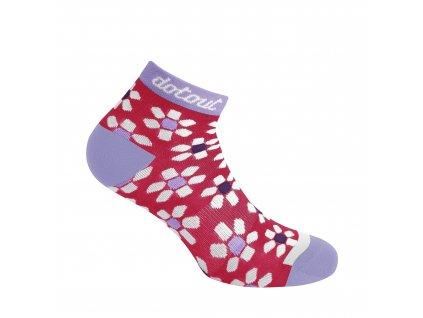 Dámské cyklistické ponožk Dotout Flower W Sock - fuchsia