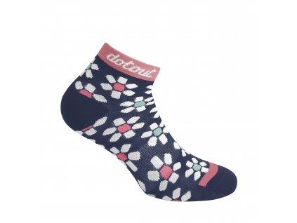 Dámské cyklistické ponožk Dotout Flower W Sock - blue