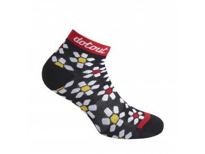 Dámské cyklistické ponožk Dotout Flower W Sock - black