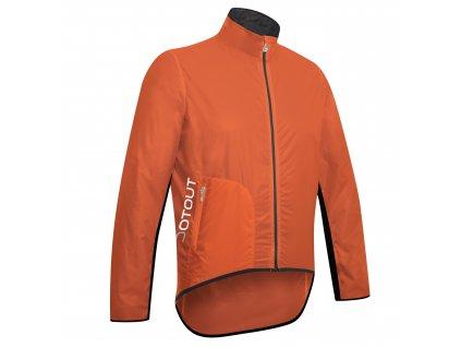 Cyklistická bunda  Dotout Tempo Jacket - Orange